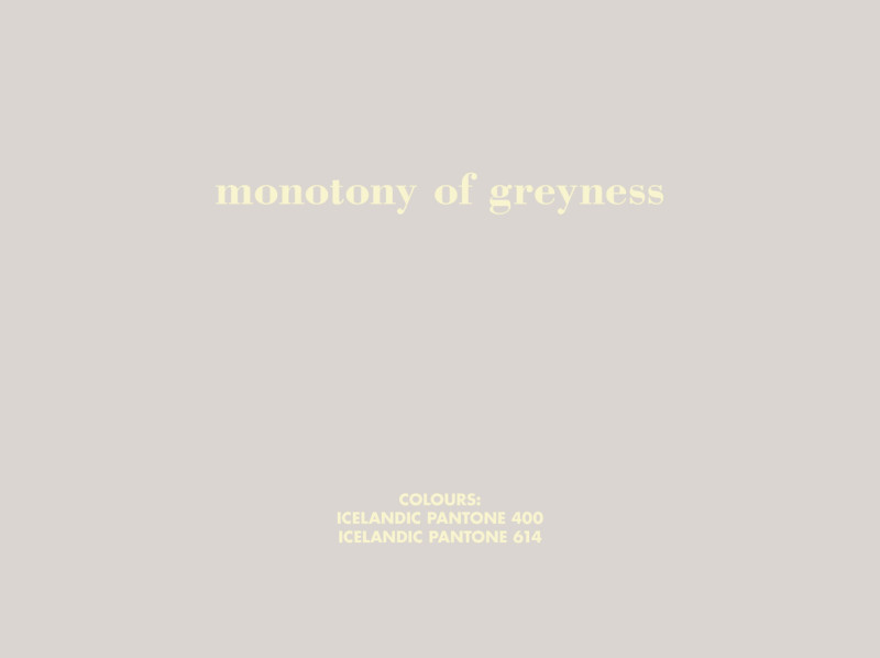 BIRGIR ANDRÉSSON, Grey Colours in the Work of William Morris (monotony of greyness), 2006