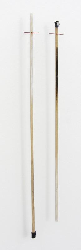 MARGRÉT H. BLÖNDAL, Untitled (watercolour, sticks, cardboard, thread, plastic), 2012