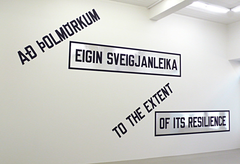 LAWRENCE WEINER, To the Extent of It's Resilience, 2009