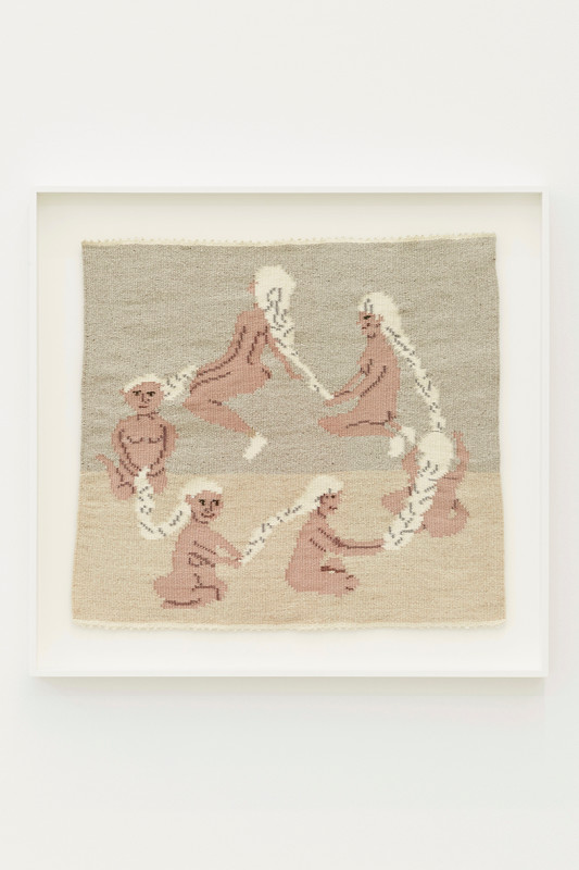 ARNA ÓTTARSDÓTTIR, Circle of Life (Six Ladies Braiding Each Others Hair), 2011