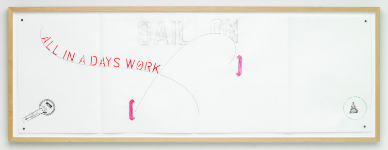 LAWRENCE WEINER, Sail On - All in a Days Work, 2010