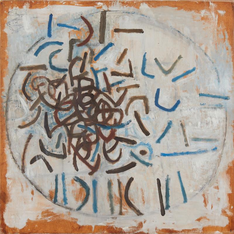 Wendy Pasmore, Abstract Brown and Indigo 2, 1961