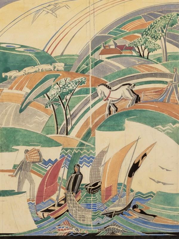 Phyllis Johnston, Design for a Mural, c 1930s