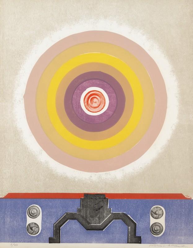 Michael Rothenstein, Circle (Beige to Purple with Radio Part B) (Sidey ?), 1968