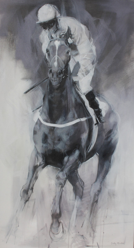 Sally Martin, Hold your horses - cantering up I