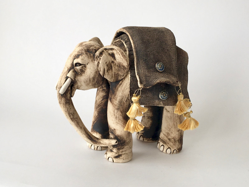 Lesley Anne Greene, Rani elephant with blankets & tassels