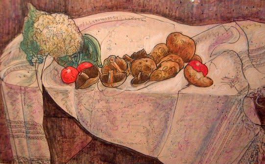 William de Belleroche, Still life with vegetables