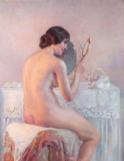 Suzanne Daynes Grassot, The golden hand mirror