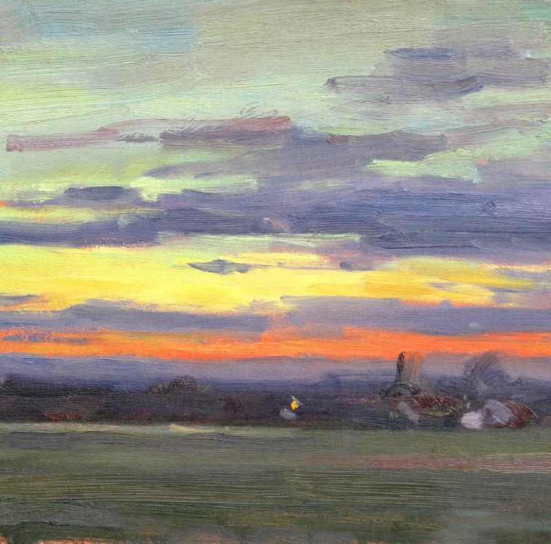 Edward Noott RBSA, Daybreak, Castlemorton
