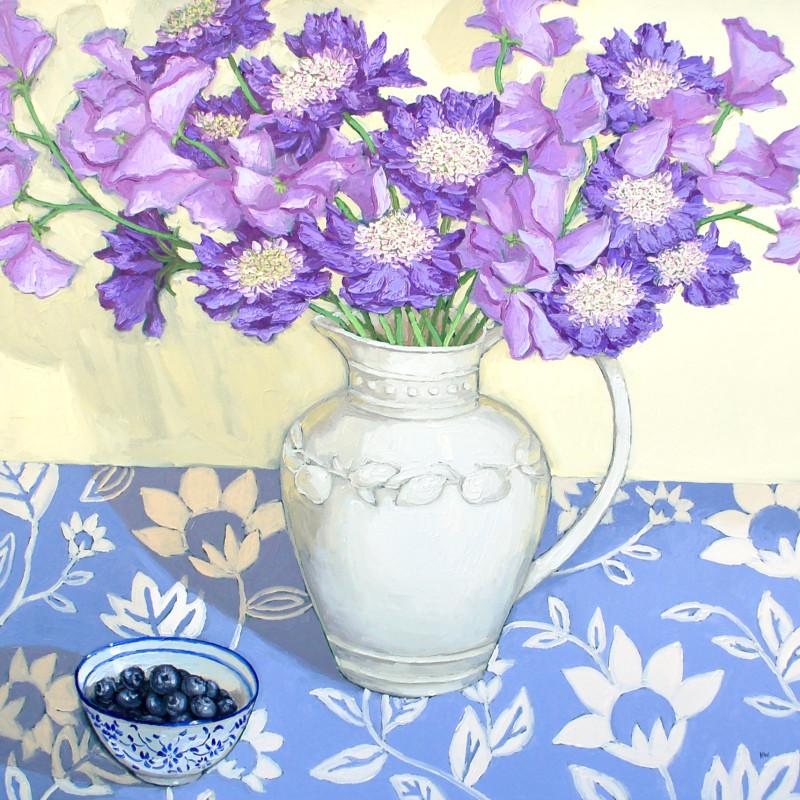Halima Washington-Dixon, Purple Pincushions with blueberries