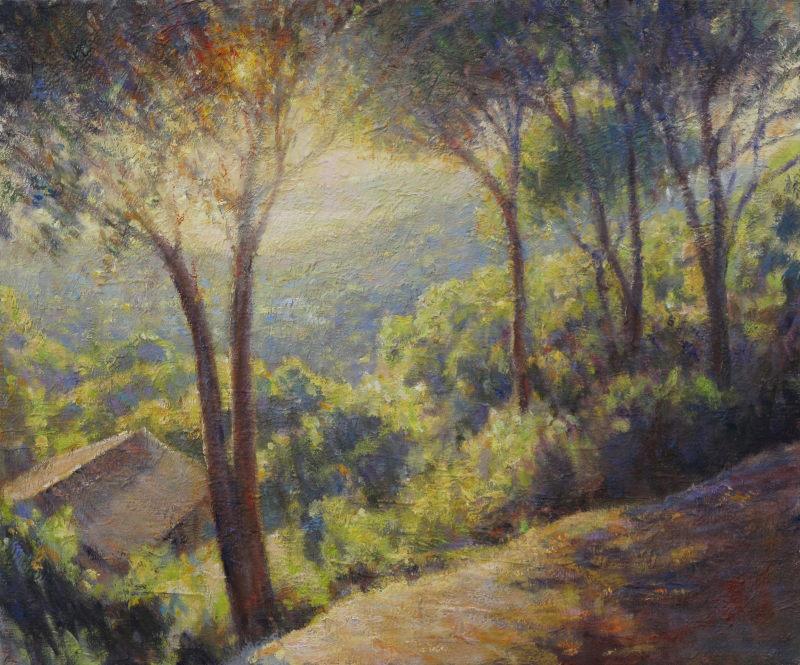 Edward Noott RBSA, Evening light, Gulf of St Tropez