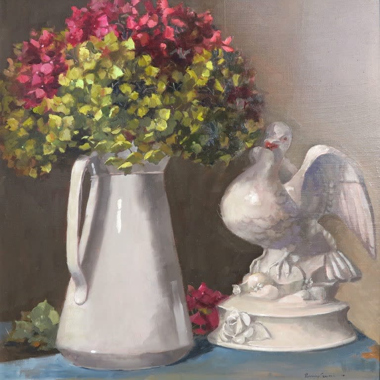 Penny German ARBSA, Hydrangea and dove