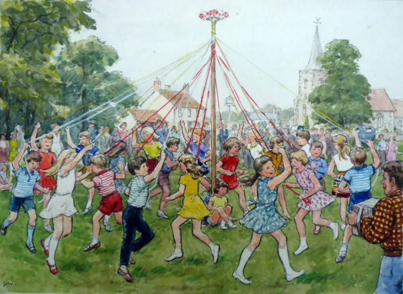 Hubert John Williams, Dancing round the Maypole