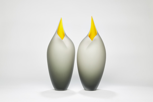 Bruce Marks, Grey and yellow birds SOLD