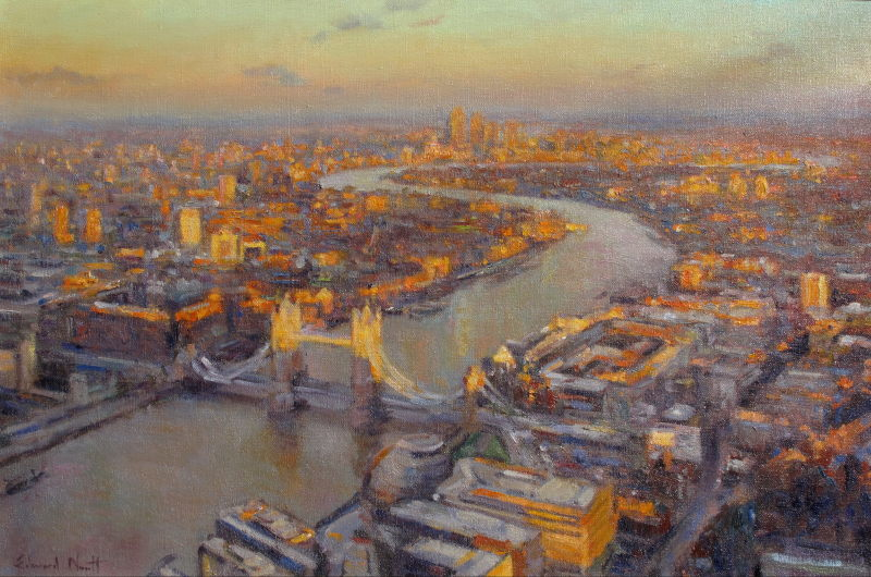 Edward Noott RBSA, The City from the Shard