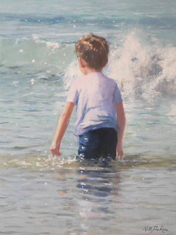 Nicholas St John Rosse RSMA, Getting wet