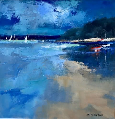 Jane Lampard, Blue light, Mill Bay, Salcombe SOLD