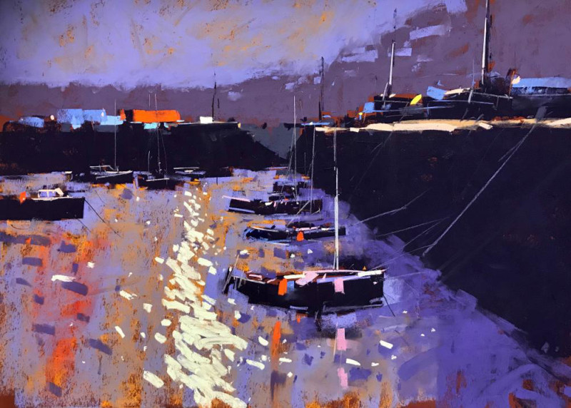 Tony Allain PS, PSA, MPANZ, Old harbour light, Guernsey