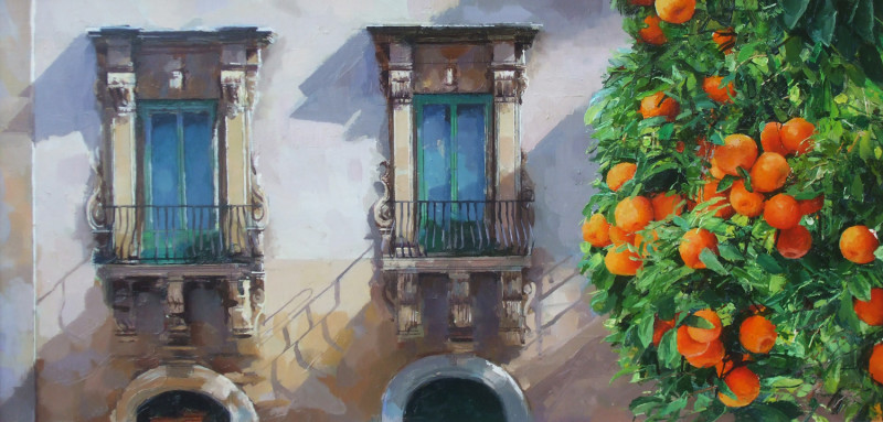 Alan Thompson, Sicilian palace - orange tree