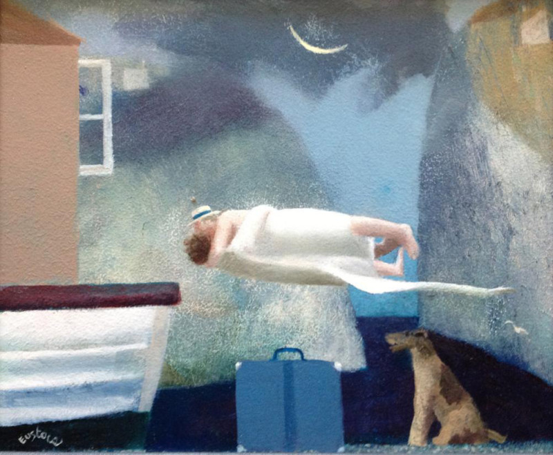 David Eustace RBA, The blue suitcase