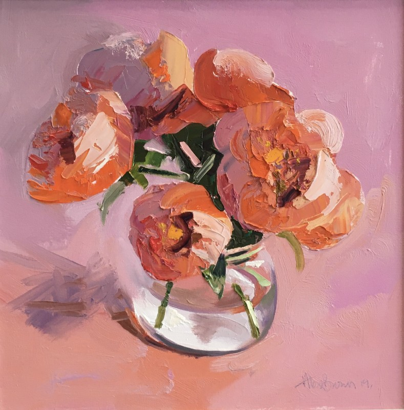 Alex Brown, Peonies, Pink Cloth