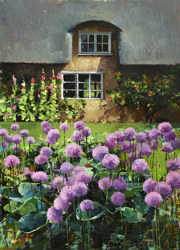 Alan Thompson, Alliums in a Cotswold cottage garden