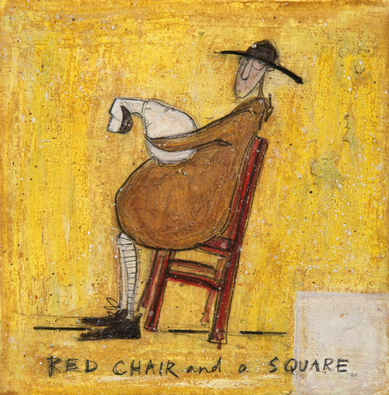Sam Toft, Red chair & a square SOLD