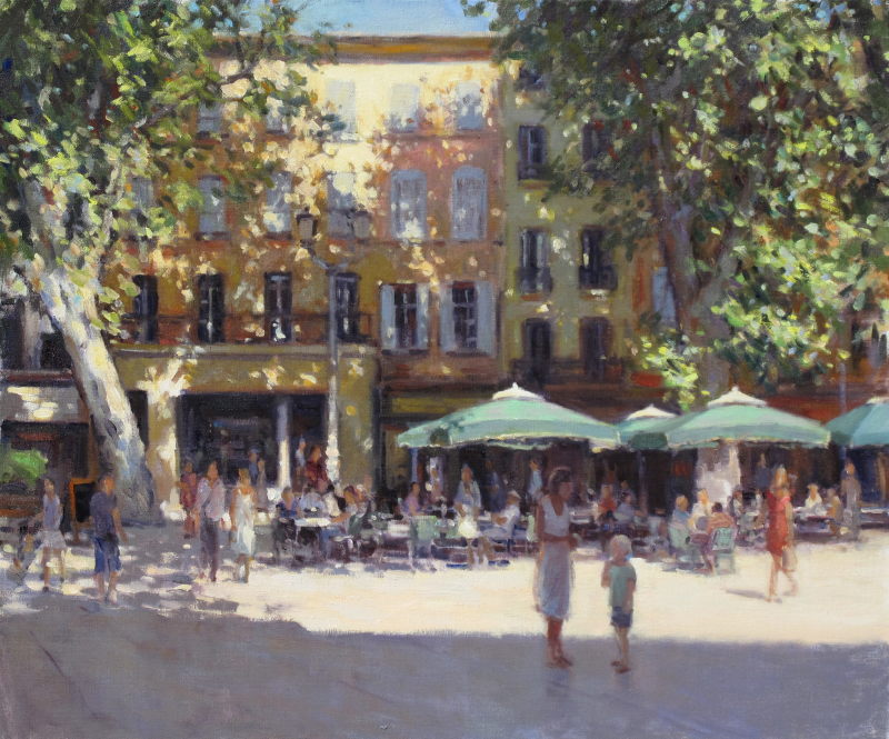 Edward Noott RBSA, Old town - Aix-en-Provence