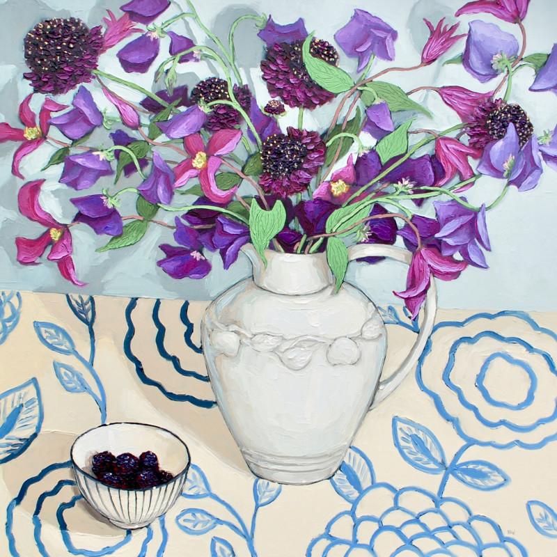 Halima Washington-Dixon, Garden purples with blackberries SOLD