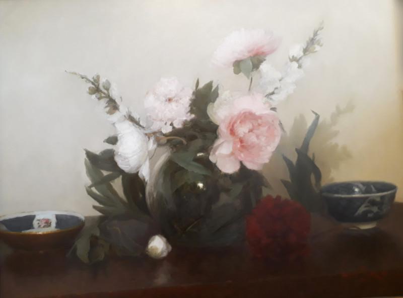 Paul Seaton, Peonies & Oriental bowls