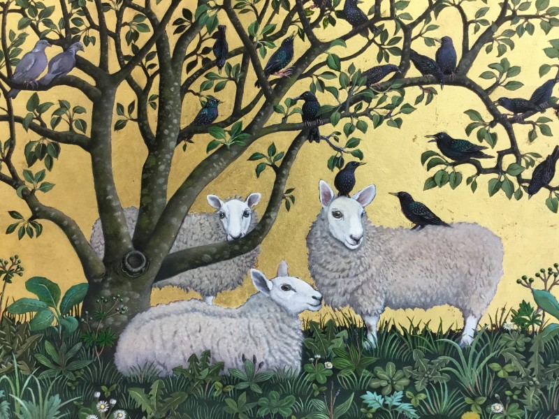 Marcelle Milo Gray, Starlings and sheep SOLD