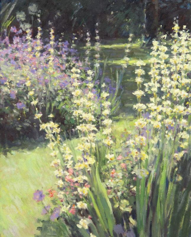 Edward Noott RBSA, Geraniums & Sisyrinchiums II