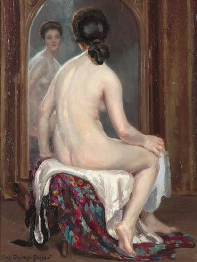 Suzanne Daynes Grassot, At the mirror