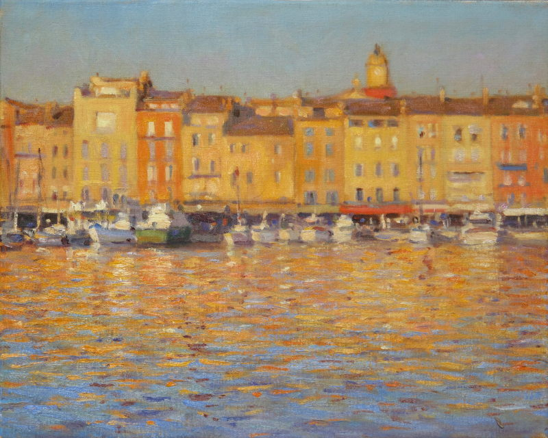 Edward Noott RBSA, Late afternoon, St Tropez