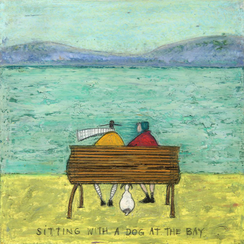 Sam Toft, Sitting with a dog at the bay SOLD