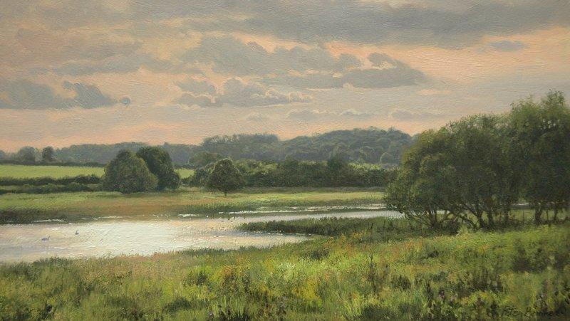 Peter Barker RSMA, Summer Evening, Eyebrook