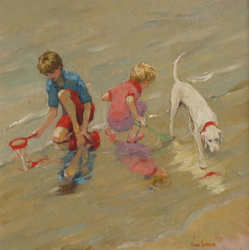 Katya Gridneva, Children on the beach
