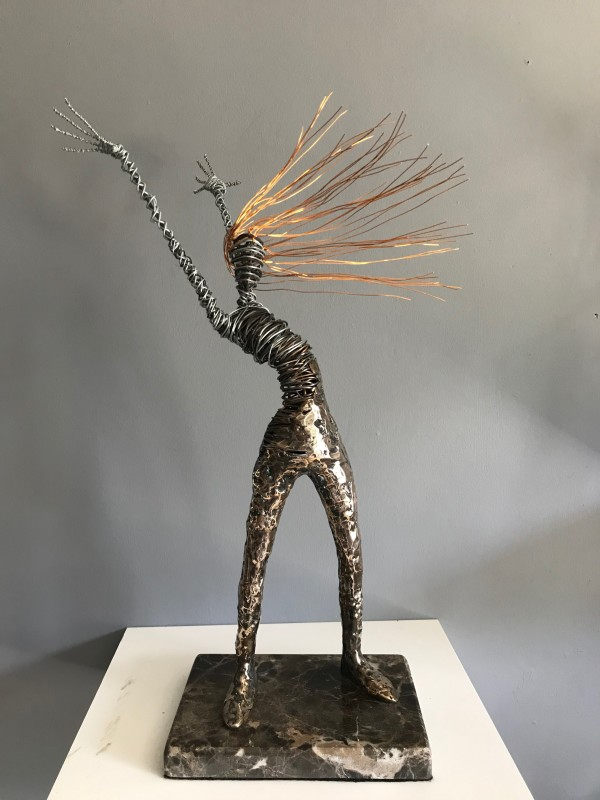 Rachel Ducker, Large standing bronze on plinth