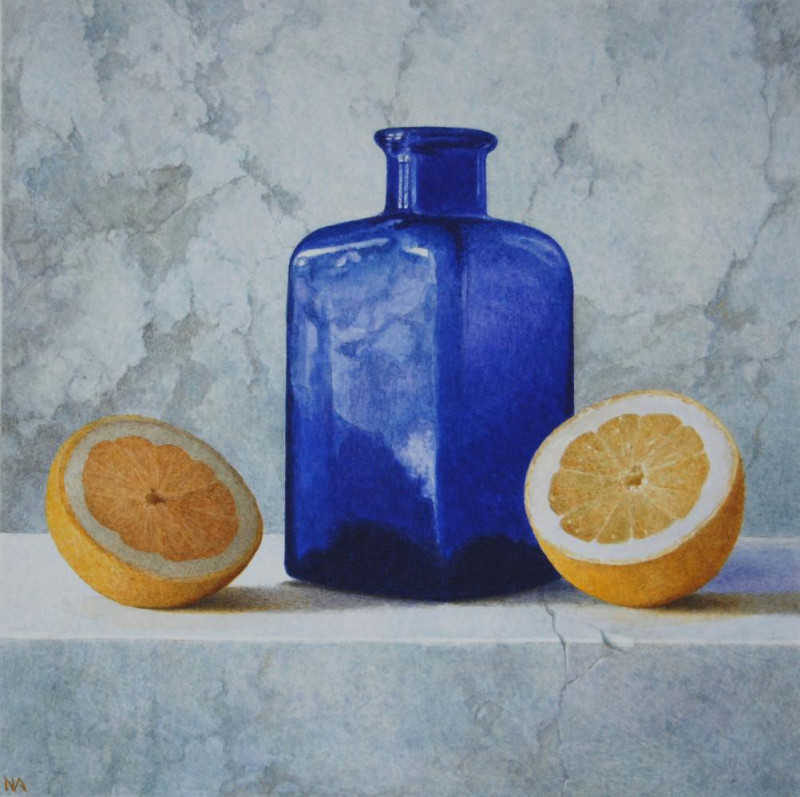 Nigel Ashcroft, Still Life with Halved Lemon