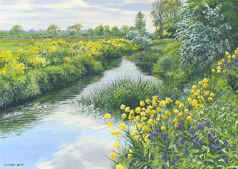 Alistair Butt RSMA, Colourful river banks