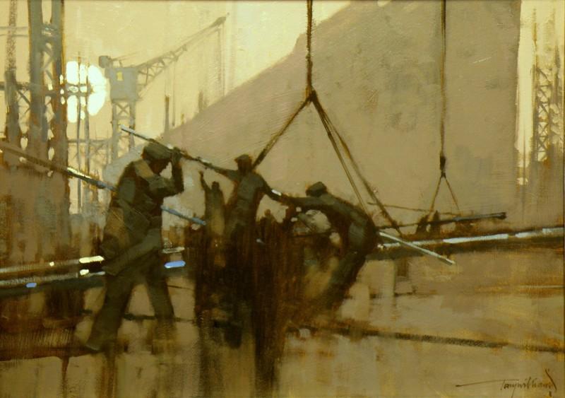 Tony Williams ARSMA SWAc, `Swinging a Plate'