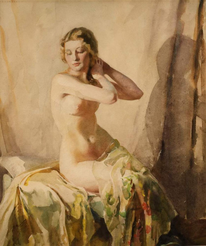 Doris Pusinelli, Seated Nude