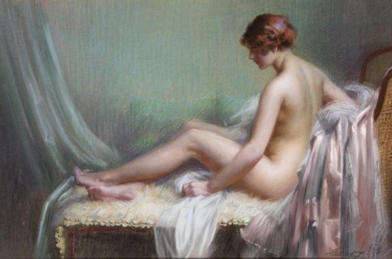 Delphin Enjolras, Femme nue allongee sur son canape