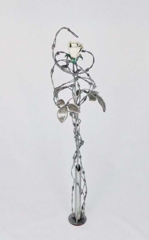 Keith Evans, Entangled ivory white rose SOLD