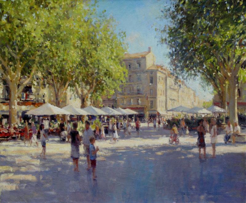 Edward Noott RBSA, Avignon, market day
