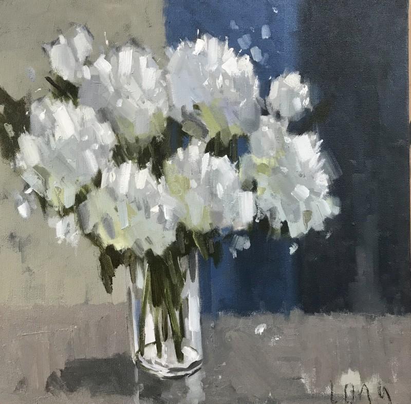 Gary Long, White in blue