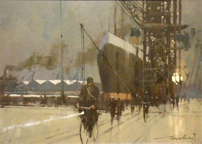 Tony Williams ARSMA SWAc, `Liverpool Dock, Winter'