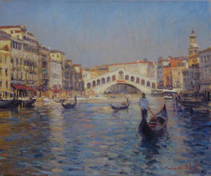 Edward Noott RBSA, Rialto bridge, Venice