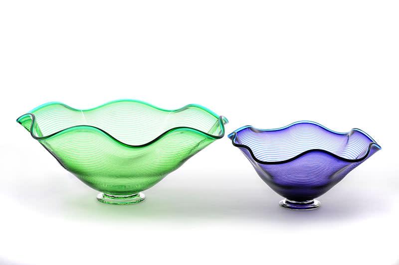 Bob Crooks, Venetian Bowl Large - blue