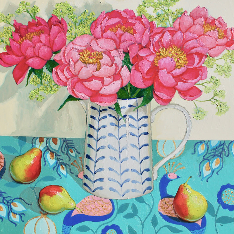 Halima Washington-Dixon, Peonies, pears and peacocks